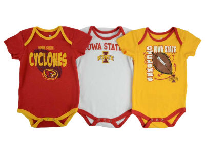 Iowa State Cyclones NCAA Infant 3 Point Spread Set