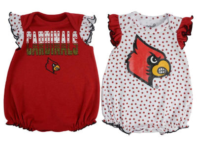 Louisville Cardinals Outerstuff NCAA Newborn Girls Polka Fan Set