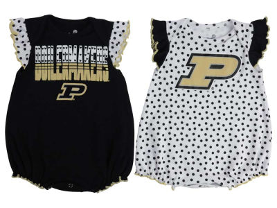Purdue Boilermakers NCAA Newborn Girls Polka Fan Set