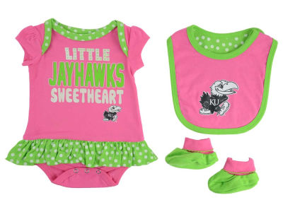 Kansas Jayhawks NCAA Newborn Girls Pink Little Sweet Set