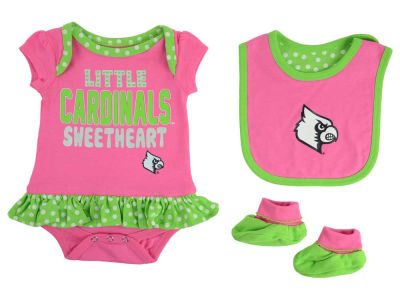 Louisville Cardinals Outerstuff NCAA Newborn Girls Pink Little Sweet Set