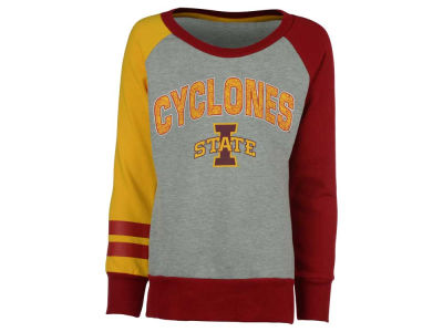 Iowa State Cyclones NCAA Youth Girls Amethyst Crew Fleece Sweatshirt