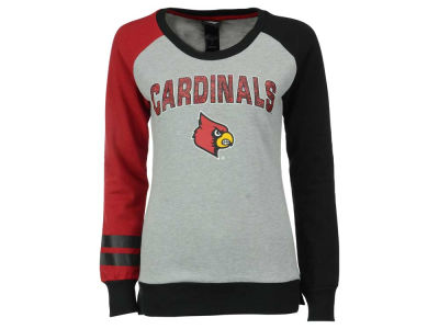 Louisville Cardinals NCAA Youth Girls Amethyst Crew Fleece Sweatshirt