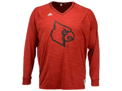 Louisville Cardinals adidas NCAA Men's 3X-4X On-Court Long Sleeve Shooter T-Shirt