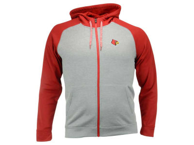 Louisville Cardinals adidas NCAA Men's Primary Logo Climawarm Full Zip Hoodie