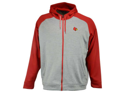 Louisville Cardinals adidas NCAA Primary Logo Climawarm 3X-4X Full Zip Hoodie