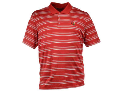 Louisville Cardinals adidas NCAA Men's Puremotion Stripe Polo ES
