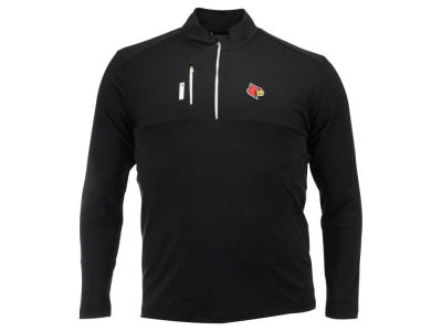 Louisville Cardinals adidas NCAA Men's Climalite Mixed Media Quarter Zip Pullover