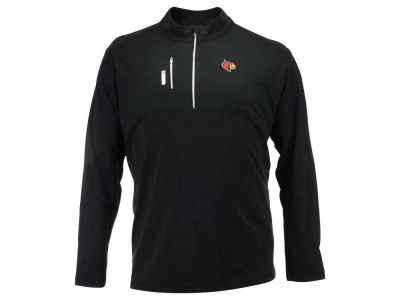 Louisville Cardinals adidas NCAA Men's Climalite 3X-4X Mixed Media Quarter Zip Pullover