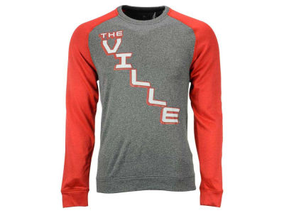 Louisville Cardinals adidas NCAA Men's On the Line Long Sleeve Crew T-Shirt