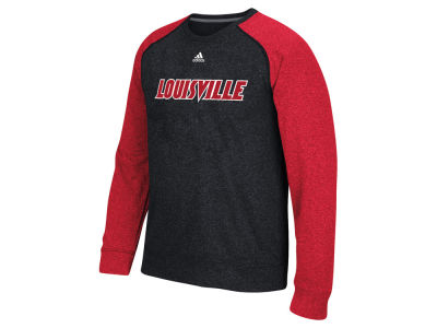 Louisville Cardinals adidas NCAA Men's Team Font Long Sleeve Crew Neck T-Shirt