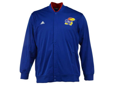 Kansas Jayhawks adidas NCAA Men's On-Court 3X-4X Warm Up Snap Jacket