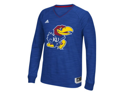 Kansas Jayhawks adidas NCAA Men's 3X-4X On-Court Long Sleeve Shooter T-Shirt