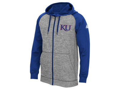 Kansas Jayhawks adidas NCAA Men's Primary Logo Climawarm Full Zip Hoodie