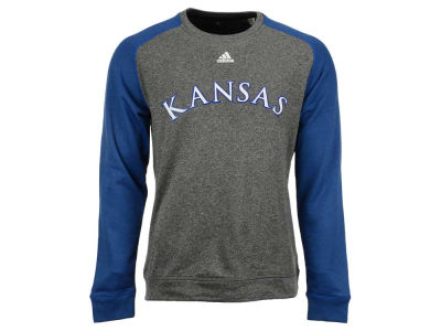 Kansas Jayhawks adidas NCAA Men's Team Font Long Sleeve Crew Neck T-Shirt