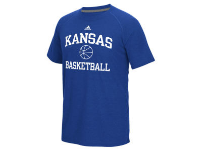 Kansas Jayhawks adidas NCAA Men's Collegiate Sports Basketball Short Sleeve T-Shirt