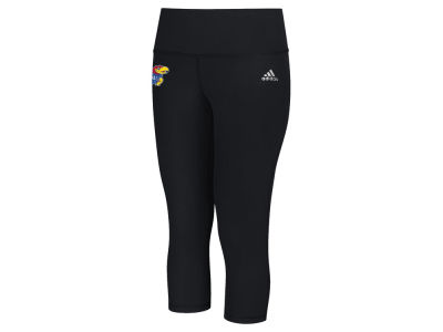 Kansas Jayhawks adidas NCAA Women's Logo Driven Capri Tights