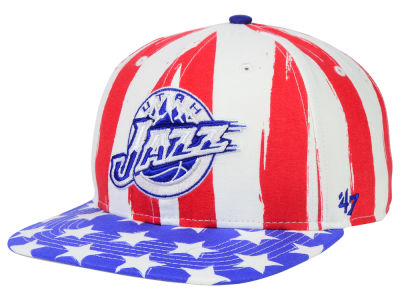 Utah Jazz '47 NBA HWC '47 Log Cabin Snapback Cap