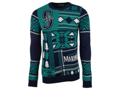 Seattle Mariners La Tilda MLB Men's Patches Ugly Sweater