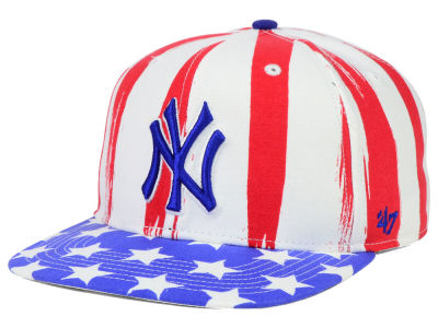 New York Yankees '47 MLB '47 Log Cabin Snapback Cap