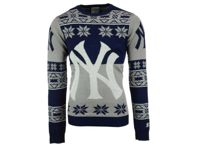New York Yankees La Tilda MLB Men's Big Logo Ugly Sweater