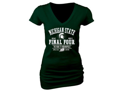 Michigan State Spartans Blue 84 NCAA Women's 2015 Final Four Single Team T-Shirt