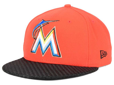 Miami Marlins New Era MLB Wovenrine 59FIFTY Cap
