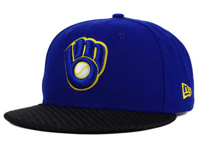 Milwaukee Brewers New Era MLB Wovenrine 59FIFTY Cap