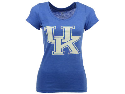 Kentucky Wildcats Blue 84 NCAA Women's Logo Tri-Blend Crewneck T-Shirt