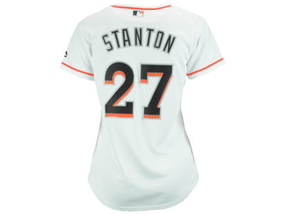 Miami Marlins Giancarlo Stanton MLB Women's Cool Base Player Replica Jersey