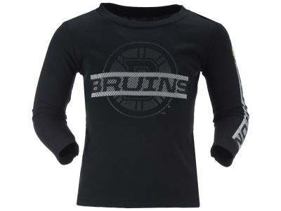 Boston Bruins Reebok NHL Toddler Line Up Long Sleeve T-Shirt