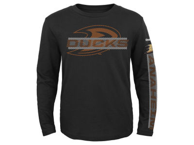 Anaheim Ducks Reebok NHL Toddler Line Up Long Sleeve T-Shirt