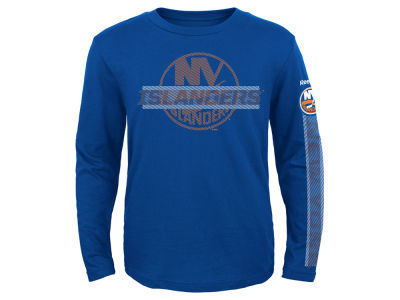 New York Islanders Reebok NHL Toddler Line Up Long Sleeve T-Shirt