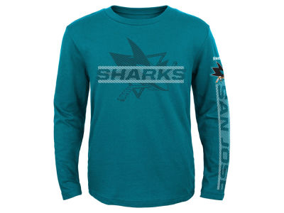 San Jose Sharks Reebok NHL Toddler Line Up Long Sleeve T-Shirt