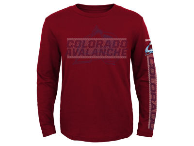 Colorado Avalanche Reebok NHL Youth Line Up Long Sleeve T-Shirt