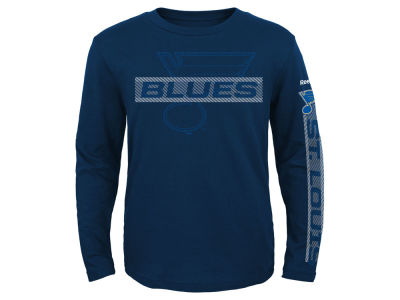 St. Louis Blues Reebok NHL Kids Line Up Long Sleeve T-Shirt