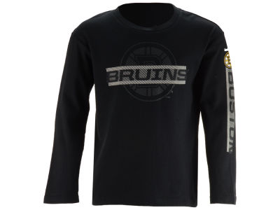 Boston Bruins Reebok NHL Youth Line Up Long Sleeve T-Shirt