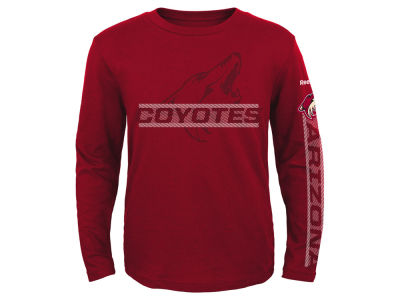 Arizona Coyotes Reebok NHL Youth Line Up Long Sleeve T-Shirt