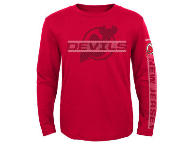 New Jersey Devils Reebok NHL Youth Line Up Long Sleeve T-Shirt