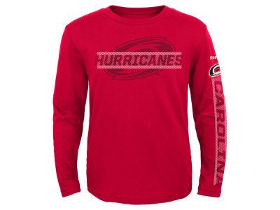 Carolina Hurricanes Reebok NHL Youth Line Up Long Sleeve T-Shirt