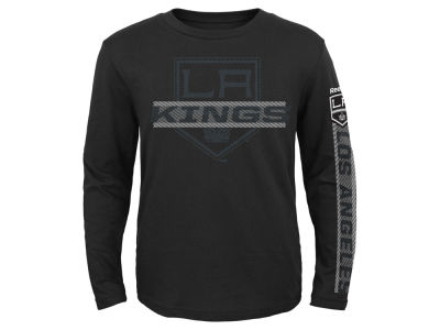 Los Angeles Kings Reebok NHL Kids Line Up Long Sleeve T-Shirt