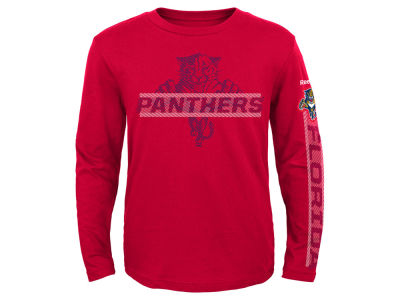 Florida Panthers Reebok NHL Youth Line Up Long Sleeve T-Shirt