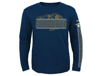 Nashville Predators Reebok NHL Youth Line Up Long Sleeve T-Shirt