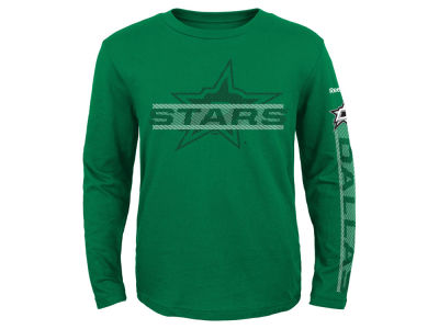 Dallas Stars Reebok NHL Youth Line Up Long Sleeve T-Shirt
