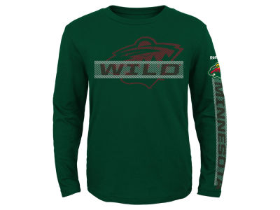 Minnesota Wild Reebok NHL Kids Line Up Long Sleeve T-Shirt