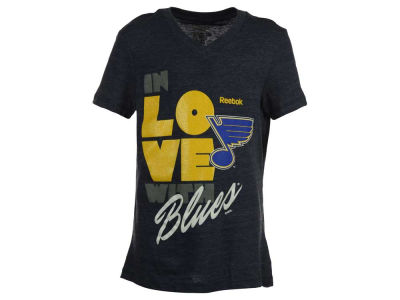 St. Louis Blues Reebok NHL Youth Girls Pave T-Shirt 2015