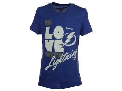 Tampa Bay Lightning Reebok NHL Youth Girls Pave T-Shirt 2015