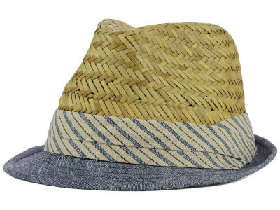 LIDS Private Label PL Straw & Denim Fedora with Striped Band