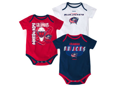 Columbus Blue Jackets NHL Newborn 3 Pt Spread Creeper Set 2015
