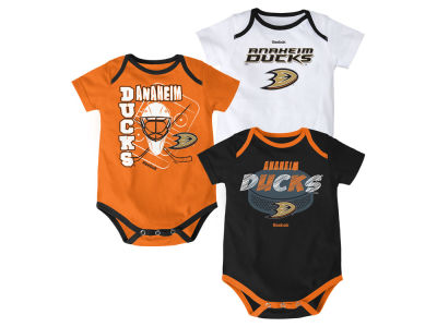 Anaheim Ducks NHL Newborn 3 Part Spread Creeper Set